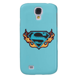 Supergirl Blue Logo with Flames Galaxy S4 Cover