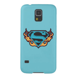 Supergirl Blue Logo with Flames Galaxy S5 Cover