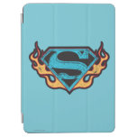 Supergirl Blue Logo with Flames iPad Air Cover