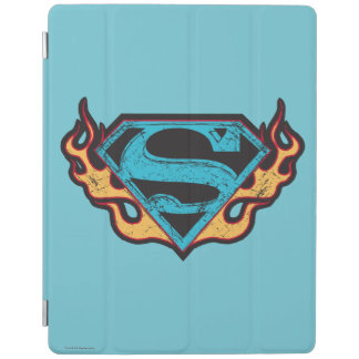 Supergirl Blue Logo with Flames iPad Cover