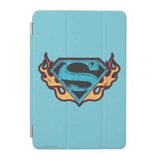 Supergirl Blue Logo with Flames iPad Mini Cover