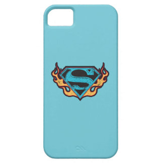 Supergirl Blue Logo with Flames iPhone 5 Case