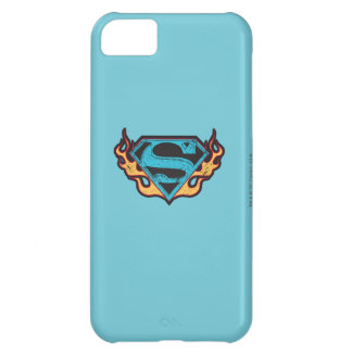 Supergirl Blue Logo with Flames iPhone 5C Case