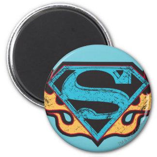 Supergirl Blue Logo with Flames Fridge Magnet