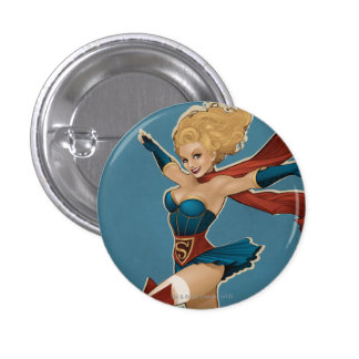 Supergirl Bombshell 1 Inch Round Button