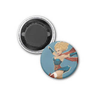Supergirl Bombshell 1 Inch Round Magnet
