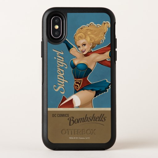 Supergirl Bombshell OtterBox Symmetry iPhone X Case