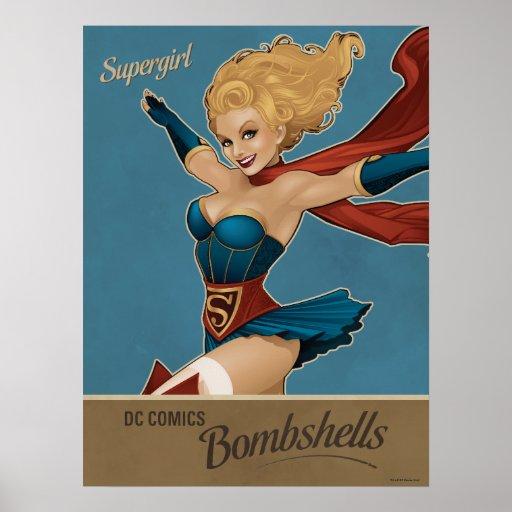 Supergirl Bombshell Print