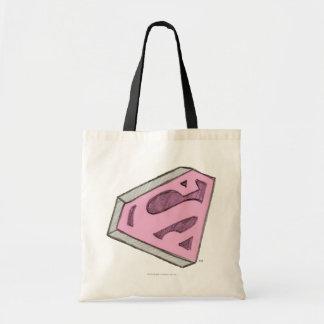 Supergirl bosquejó el logotipo rosado bolsa de mano