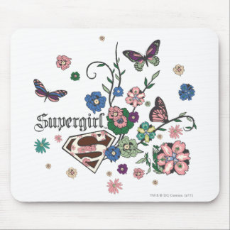 Supergirl Butterflies Mouse Pad