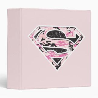 Supergirl Camouflage Logo 3 Ring Binder