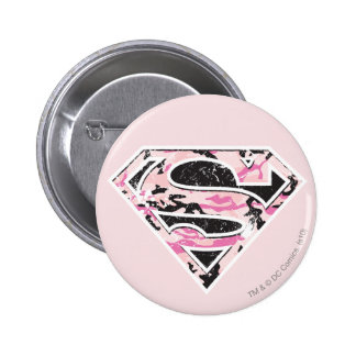 Supergirl Camouflage Logo Pin