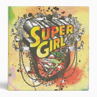Supergirl Chains 3 Ring Binder