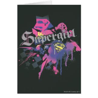 Supergirl Checkered Splatter Card
