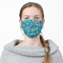 Supergirl Circle Blue Pattern Adult Cloth Face Mask