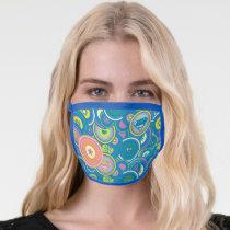 Supergirl Circle Blue Pattern Face Mask