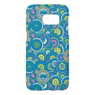 Supergirl Circle Blue Pattern Samsung Galaxy S7 Case
