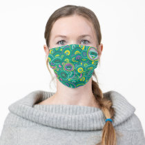 Supergirl Circle Green Pattern Adult Cloth Face Mask