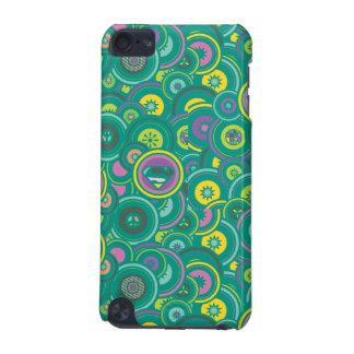 Supergirl Circle Green Pattern iPod Touch (5th Generation) Case
