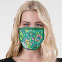 Supergirl Circle Green Pattern Face Mask