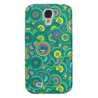 Supergirl Circle Green Pattern Galaxy S4 Covers