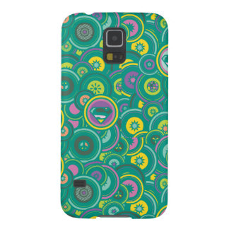Supergirl Circle Green Pattern Galaxy S5 Covers