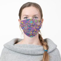 Supergirl Circle Purple Pattern Adult Cloth Face Mask