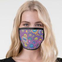 Supergirl Circle Purple Pattern Face Mask