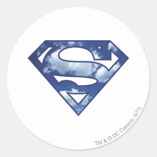 Supergirl Cloud Logo Classic Round Sticker