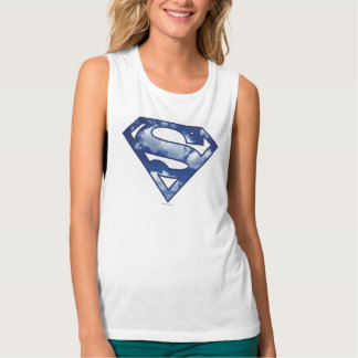 Supergirl Cloud Logo Flowy Muscle Tank Top
