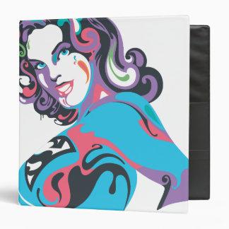 Supergirl Color Splash Pose 1 3 Ring Binder