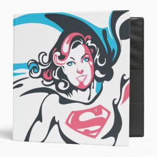 Supergirl Color Splash Pose 2 Vinyl Binder