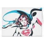 Supergirl Color Splash Pose 2 Greeting Cards