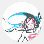 Supergirl Color Splash Pose 2 Round Stickers