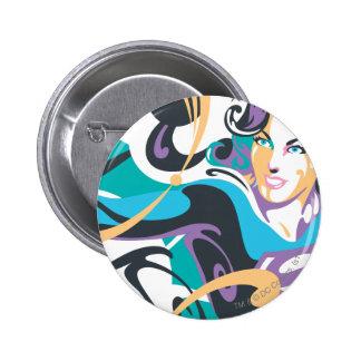 Supergirl Color Splash Swirls 1 Button
