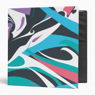 Supergirl Color Splash Swirls 2 Vinyl Binder