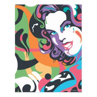 Supergirl Color Splash Swirls 4 Postcard