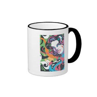 Supergirl Color Splash Swirls 4 Ringer Mug
