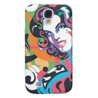 Supergirl Color Splash Swirls 4 Samsung Galaxy S4 Case