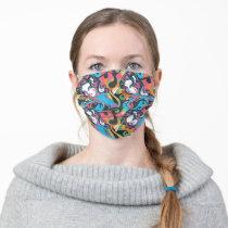 Supergirl Color Splash Swirls Pattern 1 Adult Cloth Face Mask