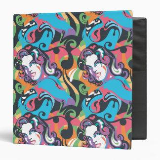 Supergirl Color Splash Swirls Pattern 1 Binder