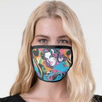Supergirl Color Splash Swirls Pattern 1 Face Mask