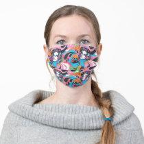 Supergirl Color Splash Swirls Pattern 2 Adult Cloth Face Mask