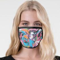 Supergirl Color Splash Swirls Pattern 2 Face Mask