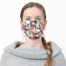 Supergirl Color Splash Swirls Pattern 4 Adult Cloth Face Mask