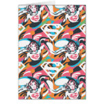 Supergirl Color Splash Swirls Pattern 4 Cards