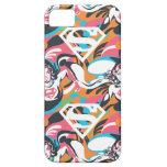 Supergirl Color Splash Swirls Pattern 4 iPhone 5 Covers