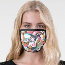 Supergirl Color Splash Swirls Pattern 4 Face Mask