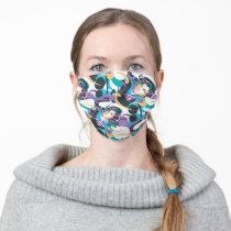 Supergirl Color Splash Swirls Pattern 5 Adult Cloth Face Mask