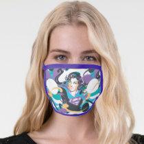 Supergirl Color Splash Swirls Pattern 5 Face Mask